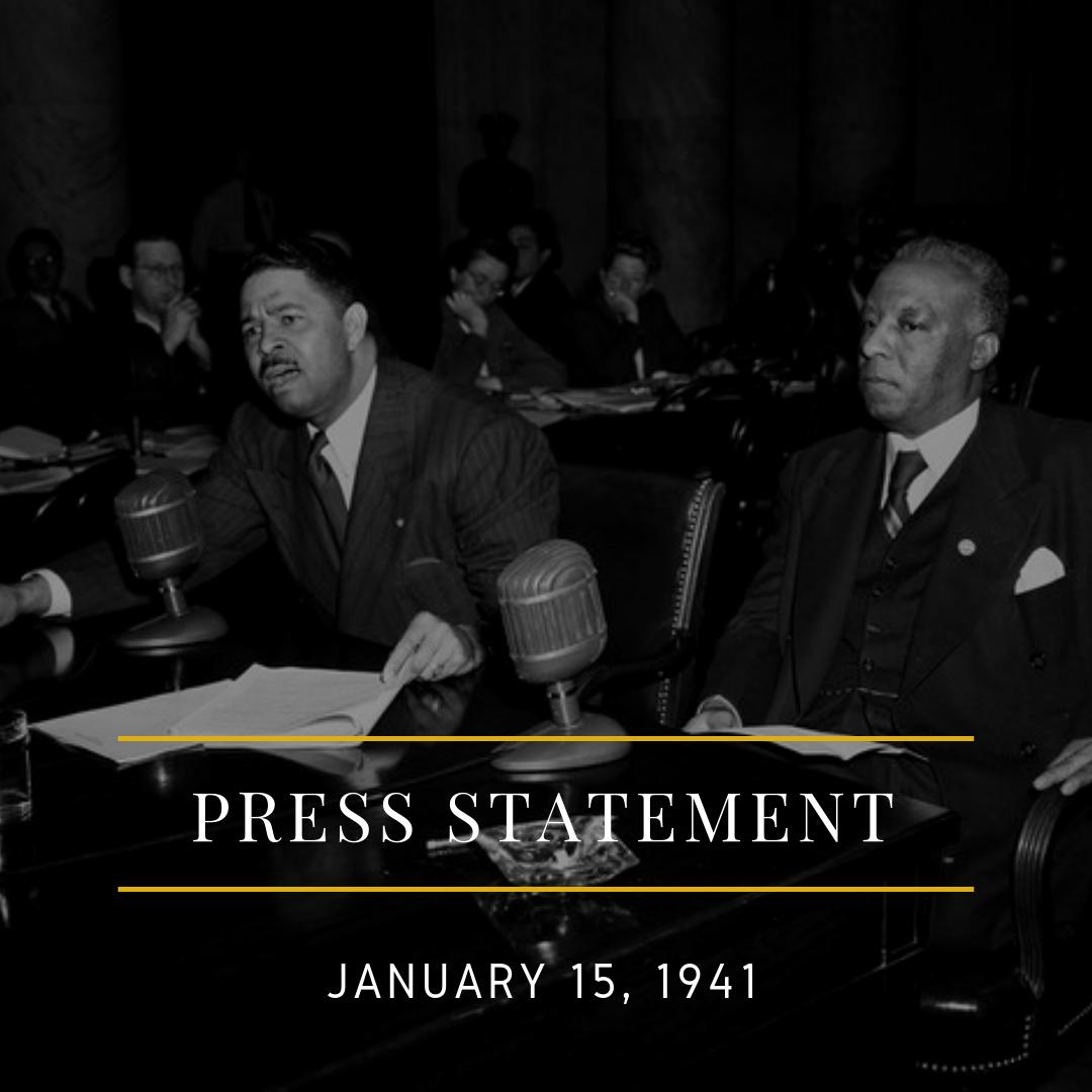 Asa Randolph Press Statement