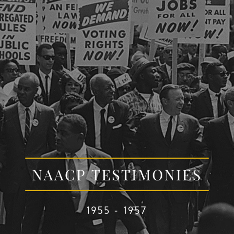 NAACP Testimonies 1955 - 1957