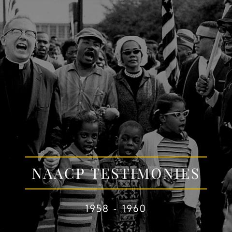 NAACP Testimonies 1958 - 1960